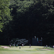 The 11th hole during the first round of the Travelers Championship at the TPC River Highlands, Cromwell, Connecticut, USA. 19th June 2014. Photo Tim Clayton