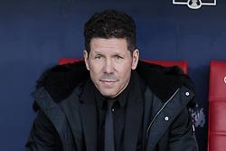 March 9, 2019 - Madrid, Madrid, Spain - Atletico de Madrid's coach Diego Pablo Simeone during La Liga match between Atletico de Madrid and CD Leganes at Wanda Metropolitano stadium in Madrid. (Credit Image: © Legan P. Mace/SOPA Images via ZUMA Wire)