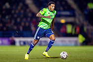 Cardiff City midfielder Nathaniel Mendez-Laing (19) during the The FA Cup 3rd round match between Gillingham and Cardiff City at the MEMS Priestfield Stadium, Gillingham, England on 5 January 2019. Photo by Martin Cole.