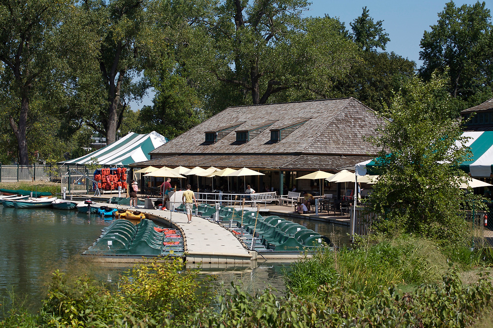 Forest Park's Boathouse in St. Louis, Missouri.