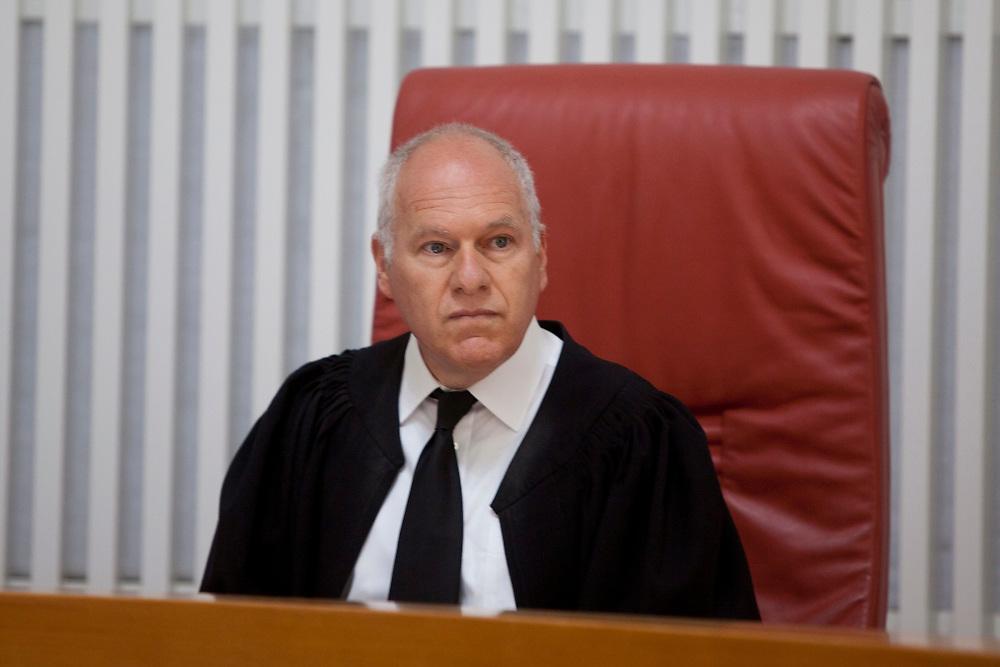 Israeli Supreme Court Justice Uzi Fogelman, is seen at the Israeli Supreme Court in Jerusalem, on May 6, 2012.