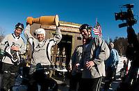New England Pond Hockey Classic on Lake Waukewan Sunday,  February 5, 2012.
