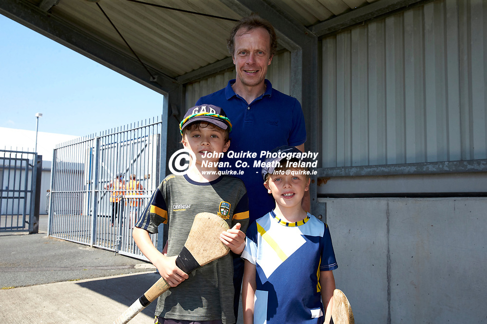 17-07-21, Joe McDonagh Cup Relegation play-off at Parnell Park.<br /> Meath v Kildare<br /> Pictured at the game, L-R, Albert, Michael & Cormac Gallagher (Kilmessan)<br /> Photo: David Mullen / www.quirke.ie ©John Quirke Photography, Proudstown Road Navan. Co. Meath. 046-9079044 / 087-2579454.<br /> ISO: 200; Shutter: 1/250; Aperture: 9;