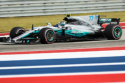 October 20, 2017 - Austin, Texas, U.S - Valtteri Bottas (77) of Finland in action before the Formula 1 United States Grand Prix race at the Circuit of the Americas race track in Austin,Texas. (Credit Image: © Dan Wozniak via ZUMA Wire)