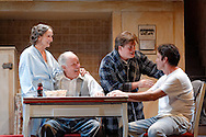 Photograph of actors in Le Petit Theatre's performance of Death of a Salesman in New Orleans, LA.