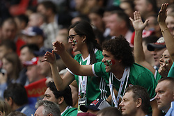 June 24, 2017 - Kazan, Russia - Mexico national team supporters during the Group A - FIFA Confederations Cup Russia 2017 match between Russia and Mexico at Kazan Arena on June 24, 2017 in Kazan, Russia. (Credit Image: © Mike Kireev/NurPhoto via ZUMA Press)