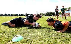 Sam Lewis of Worcester Warriors leads a coaching session as Worcester Warriors host a summer holiday rugby camp at Malvern College - Mandatory by-line: Robbie Stephenson/JMP - 16/08/2017 - RUGBY - Malvern College - Worcester, England - Worcester Warriors - Malvern Rugby Camp