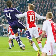 NLD/Amsterdam/20101123 - Ajax - Real Madrid, Siem de Jong (10) / Sergio Ramos (4)