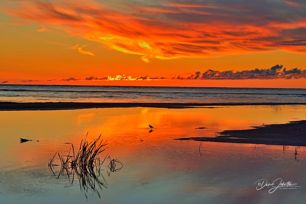 Dawn Skies over Great Slave Lake , Hay River, Northwest Territories, Canada