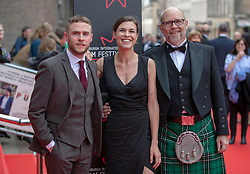 The Edinburgh International Film Festival Opening Night Premiere features the film Puzzle. Directed by Mark Turtletaub it stars Kelly Macdonald and Irrfan Khan. <br /> <br /> Pictured: Robert Florence, Anna Ularu and Jason Connery