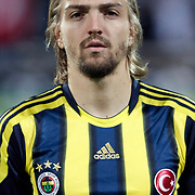 Fenerbahce's Caner ERKIN during their Turkish Superleague Derby match Besiktas between Fenerbahce at the Inonu Stadium at Dolmabahce in Istanbul Turkey on Thursday, 207 October 2011. Photo by TURKPIX