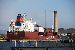 Theatres LPG ship in the port area where the new jetty will be built. Grangemouth refinery. The Sun had access to the plant for a 'year on' tale (last year the plant closed following strike action - this is an update piece).