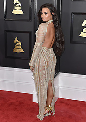 Celebrities arrive on the red carpet for the 59th Grammy Awards held at the Staples Centre in downtown Los Angeles, California. 12 Feb 2017 Pictured: Demi Lovato. Photo credit: Bauergriffin.com / MEGA TheMegaAgency.com +1 888 505 6342