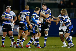 Bath Flanker Francois Louw, returning from injury, in action - Photo mandatory by-line: Rogan Thomson/JMP - 07966 386802 - 12/12/2014 - SPORT - RUGBY UNION - Bath, England - The Recreation Ground - Bath Rugby v Montpellier Herault Rugby - European Rugby Champions Cup Pool 4.