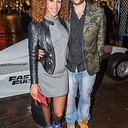 NLD/Amsterdam/20150401 - Premiere Fast & Furious 7, Glennis Grace en partner Robert Beisiger