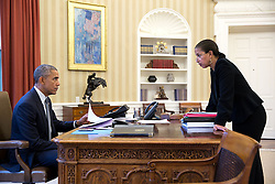 President Barack Obama meets with National Security Advisor Susan E. Rice in the Oval Office, Feb. 10, 2015. (Official White House Photo by Pete Souza)<br /> <br /> This official White House photograph is being made available only for publication by news organizations and/or for personal use printing by the subject(s) of the photograph. The photograph may not be manipulated in any way and may not be used in commercial or political materials, advertisements, emails, products, promotions that in any way suggests approval or endorsement of the President, the First Family, or the White House.