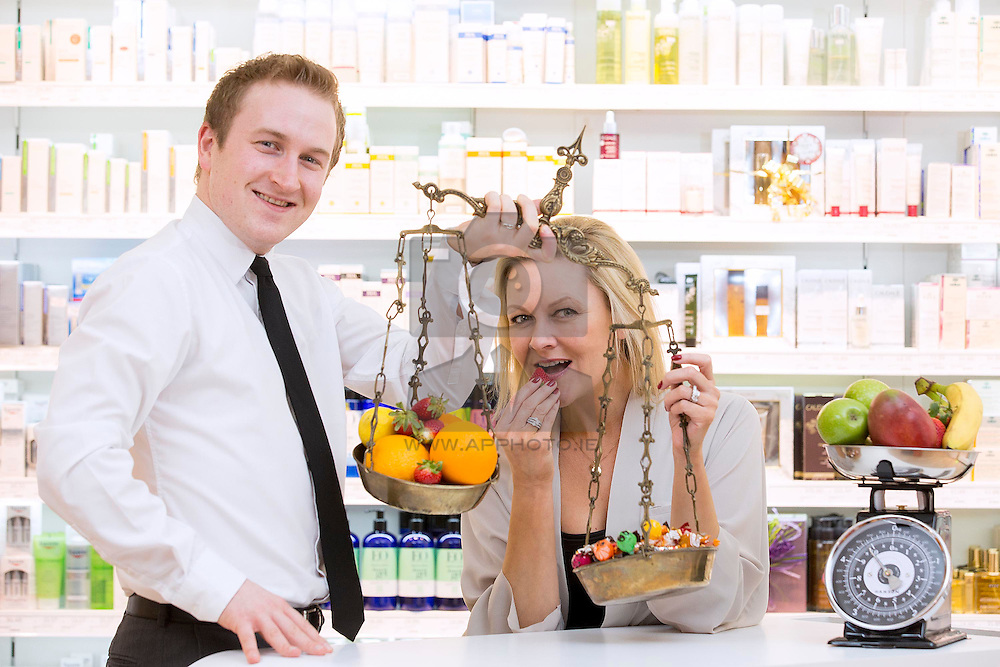 Repro Free: 06/01/2014 <br /> Pictured here is Laura Bermingham at LloydsPharmacy in Blackrock with Seamus Reynolds<br /> Blackrock Store Pharmacist. LloydsPharmacy launched its Change Your Health Direction campaign - a new, eight week healthy living programme available exclusively to LloydsPharmacy customers. Through this initiative, LloydsPharmacy aims to support its customers' healthy living ambitions for 2015.  LloydsPharmacy now has 87 stores around Ireland. Customers can also avail of an online order and delivery service. For more information please visit http://www.lloydspharmacy.ie Picture Andres Poveda<br /> <br /> -ends-<br /> Further Information:<br /> Website: http://www.lloydspharmacy.ie/<br /> Facebook: https://www.facebook.com/LloydspharmacyIreland<br /> Twitter: @LloydsPharmIre<br /> For media queries contact:<br /> Julie Blakeney: Ph-0863420794/ Email- julie@pr360.ie<br /> Dan Pender: Ph- 0872313415/ Email- dan@pr360.ie