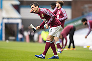 Burnley midfielder Jack Cork (4) warming up before the FA Cup match between Burnley and Milton Keynes Dons at Turf Moor, Burnley, England on 9 January 2021.