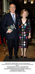 IAIN & BETSY DUNCAN SMITH he is the former leader of the Conservative Party, at a reception in London on 6th November 2003.POH 61