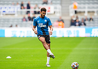 Football - 2021 / 2022 - Pre-Season Friendly - Newcastle United vs Norwich City - St James Park - Saturday 7th August 2021<br /> <br /> Joelinton of Newcastle United is seen during the warm up<br /> <br /> Credit: COLORSPORT/Bruce White