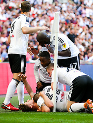 Free to use courtesy of Sky Bet. Tom Cairney of Fulham celebrates after he scores a goal to make it 0-1 - Rogan/JMP - 26/05/2018 - FOOTBALL - Wembley Stadium - London, England - Aston Villa v Fulham - Sky Bet Championship Play-Off Final.