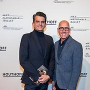 NLD/Amsterdam/20180324 - inloop première Dutch Doubles ballet, Maurice Wijnen en partner Ronald den Ouden