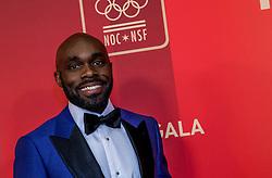 21-12-2016 NED: Sportgala NOC * NSF 2016, Amsterdam<br /> In de Amsterdamse RAI vindt het traditionele NOC NSF Sportgala weer plaats / Churandy Thomas Martina (Willemstad, 3 juli 1984) is een sprinter uit Curaçao. Hij nam viermaal deel aan de Olympische Spelen. Tweemaal voor de Nederlandse Antillen (2004 en 2008) en tweemaal voor Nederland op de Olympische Spelen in Londen, in 2012, en in Rio de Janeiro in 2016. In Londen stond hij in de finales van de 100 m, 200 m en 4 x 100 m; in Rio de Janeiro in de finale van de 200 m. Martina is Nederlands recordhouder op de 60 m, 100 m, 200 m en de 4 x 100 m estafette en heeft daarnaast ook alle sprintrecords van de Nederlandse Antillen in handen.