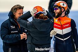 Sjinkie Knegt back on track during the training for ISU World Cup Finals Shorttrack 2020 on February 12, 2020 in Sportboulevard Dordrecht.