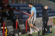 Ross Draper of County gets sent off during the Scottish Premiership match between Ross County FC and St Mirren FC at the Global Energy Stadium, Dingwall, Scotland on 26 December 2020