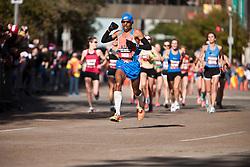 Meg Keflezighi leads with quarter mile to go in men's marathon, winner