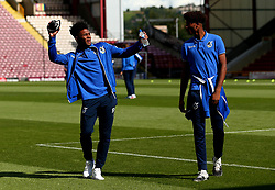 Ellis Harrison of Bristol Rovers and Alexis Andre Junior of Bristol Rovers arrive at The Northern Commercials Stadium (Valley Parade), home of Bradford City - Mandatory by-line: Robbie Stephenson/JMP - 02/09/2017 - FOOTBALL - Northern Commercials Stadium - Bradford, England - Bradford City v Bristol Rovers - Sky Bet League One