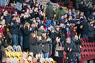 Bradford fans applaud the Chesham players after the game during the The FA Cup match between Bradford City and Chesham FC at the Coral Windows Stadium, Bradford, England on 6 December 2015. Photo by Mark P Doherty.