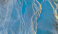 Aerial view above of Pamukkale, Turkey