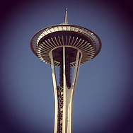 2017 July 25 - The Space Needle at Seattle Center on a sunny summer day in Seattle, WA, USA. Taken/edited with Instagram App for iPhone. By Richard Walker