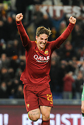 December 26, 2018 - Rome, Italy - Nicolo' Zaniolo of AS Roma celebrates after scoring the team's third goal during the Serie A match between AS Roma and US Sassuolo at Stadio Olimpico on December 26, 2018 in Rome, Italy. (Credit Image: © Federica Roselli/NurPhoto via ZUMA Press)