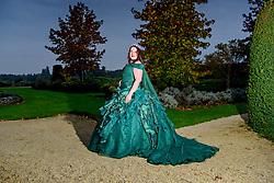 Halloween themed, Gothic style Wedding Dress
