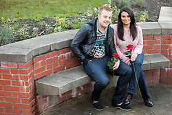 © Licensed to London News Pictures . FILE PICTURE DATED 25 November 2012 . Hulme , Manchester , UK .  L-R BEN ADAMS and SARA ADAMS (both correct) . As reported in the Manchester Evening News on 26th November 2012, newlywed Ben Adams (24) accompanied single best friend Lee Robinson (26) on a speed dating trip to Paris , to lend moral support . Even though he wore his wedding ring and made it clear he was spoken for , Ben still ended up being voted the most wanted man by the women on the trip and he won a holiday to Majorca to share with the woman of his choice . Although they've only recently returned from their honeymoon in Egypt , the couple are now travelling to Majorca . Photo credit : Joel Goodman/LNP
