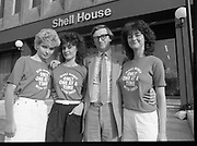 """Make Money"" whit shell, press reception at Shell House, Dublin,<br /> 30th May 1984"