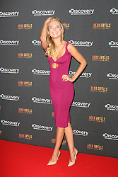 © Licensed to London News Pictures. 25/09/2013, UK. Kimberley Garner. Bear Grylls: Escape From Hell - launch party, Battersea Power Station, London UK, September 25. Photo credit : Richard Goldschmidt/Piqtured/LNP