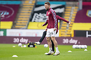 Burnley midfielder Dale Stephens (16) warming up before the FA Cup match between Burnley and Milton Keynes Dons at Turf Moor, Burnley, England on 9 January 2021.