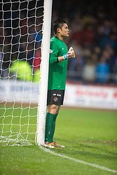 Dundee United's Eiji Kawashima. <br /> Dundee 2 v 1  Dundee United, SPFL Ladbrokes Premiership game played 2/1/2016 at Dens Park.