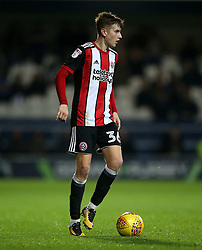 """Sheffield United's David Brooks in action during the game during the Sky Bet Championship match at Loftus Road, London. PRESS ASSOCIATION Photo. Picture date: Tuesday October 31, 2017. See PA story SOCCER QPR. Photo credit should read: Steven Paston/PA Wire. RESTRICTIONS: EDITORIAL USE ONLY No use with unauthorised audio, video, data, fixture lists, club/league logos or """"live"""" services. Online in-match use limited to 75 images, no video emulation. No use in betting, games or single club/league/player publications."""