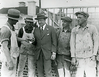 1926 Jesse Lasky with carpenters at his new studio on Marathon St. (later Paramount Studios)