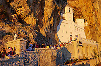 Monténégro, Région Centrale, le monastère orthodoxe d'Ostrog datant du XVIIe siècle, vallée de la Piva // Montenegro Ostrog Orthodox monastery from 17 century, Piva valley