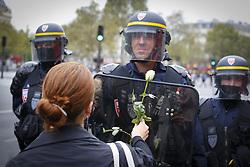 September 15, 2016 - Paris - presence de la police et des crs (Credit Image: © Panoramic via ZUMA Press)