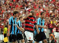 20091206: RIO DE JANEIRO, BRAZIL - Flamengo vs Gremio: Brazilian League 2009 - Flamengo won 2-1 and celebrated the 6th Brazilian Championship of its history. In picture: Adriano (Flamengo, C). PHOTO: Andre Durao/CITYFILES