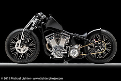 """""""'Passion"""", A 131 Joe Mallory Built Billet Evo Motor, by Johnny Humhrey, in  Terre Hill, PA.  Photographed by Michael Lichter in Sturgis, SD on 8/2/18. ©2018 Michael Lichter."""