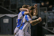 Bristol Rovers forward Matt Taylor scores for Bristol Rovers  during the Sky Bet League 2 match between Bristol Rovers and York City at the Memorial Stadium, Bristol, England on 12 December 2015. Photo by Simon Davies.