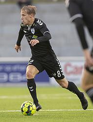 Mike Vestergård (Kolding IF) under kampen i 1. Division mellem FC Helsingør og Kolding IF den 24. oktober 2020 på Helsingør Stadion (Foto: Claus Birch).
