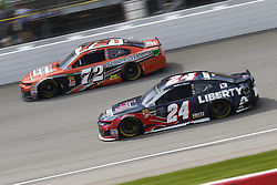 August 12, 2018 - Brooklyn, Michigan, United States of America - William Byron (24) and Corey LaJoie (72) battle for position during the Consumers Energy 400 at Michigan International Speedway in Brooklyn, Michigan. (Credit Image: © Chris Owens Asp Inc/ASP via ZUMA Wire)